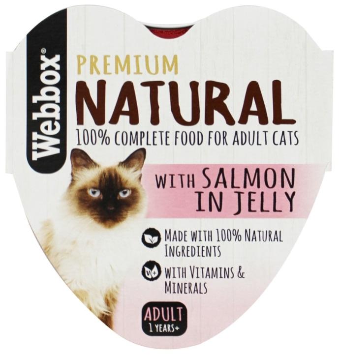 Webbox Premium Natural tacka dla kota  z łososiem w galaretce 85g