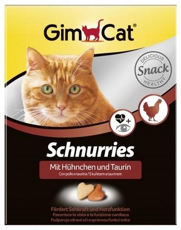 Zdjęcie Gimcat Schnurries tabletki witaminowe  z kurczakiem i tauryną 650 szt.