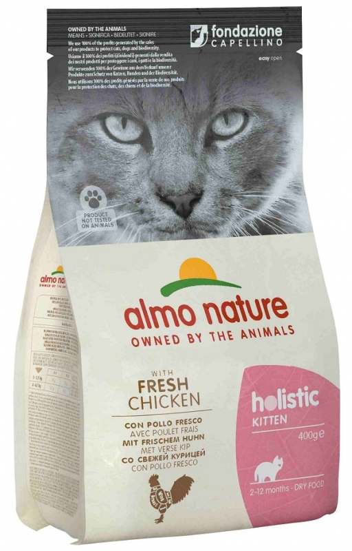 Almo Nature Holistic Cat Kitten  z kurczakiem 400g