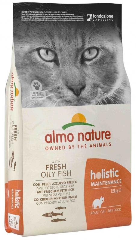 Zdjęcie Almo Nature Holistic Cat Adult  z rybą oleistą 12kg