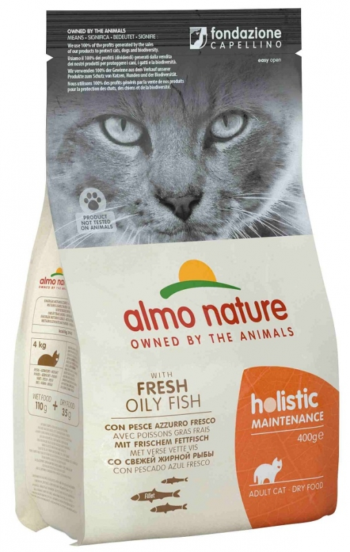 Almo Nature Holistic Cat Adult  z rybą oleistą 400g