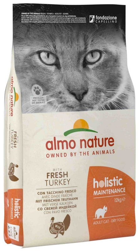 Almo Nature Holistic Cat Adult  z indykiem 12kg