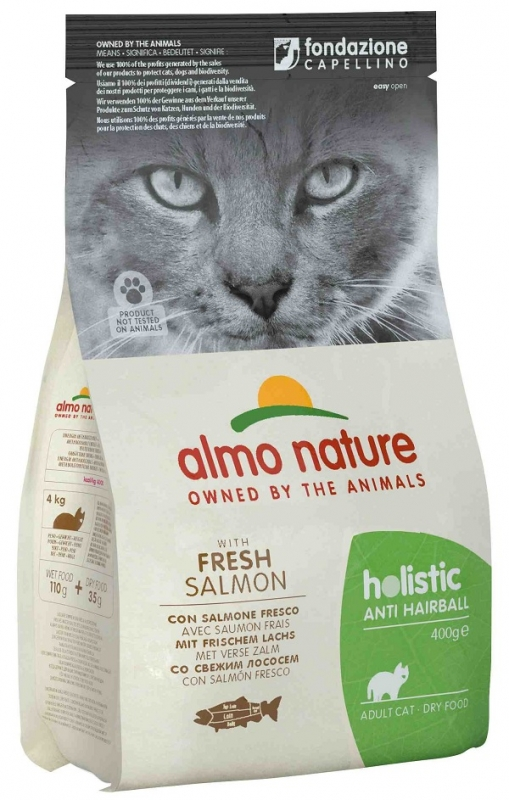 Almo Nature Holistic Cat Adult Anti Hairball  z łososiem 400g