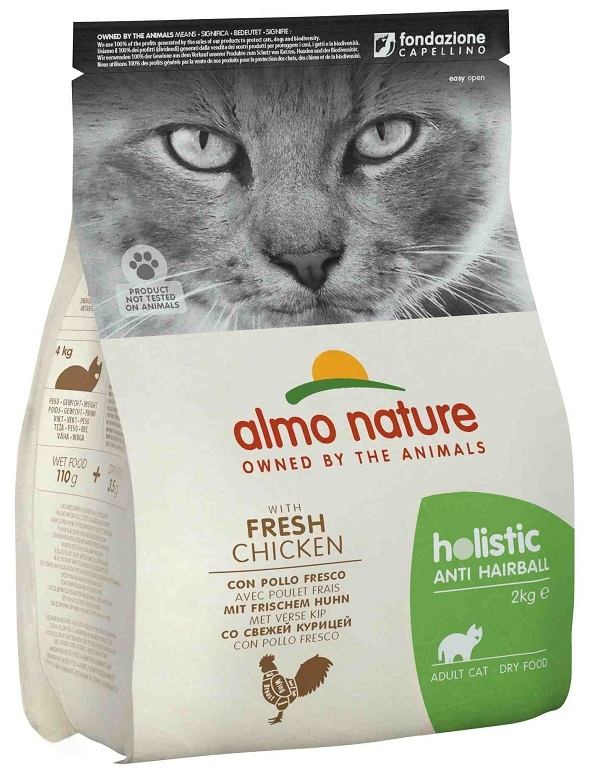 Almo Nature Holistic Cat Adult Anti Hairball  z kurczakiem 2kg