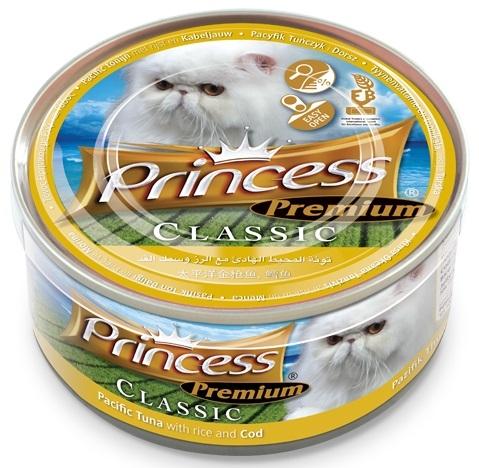 Princess Premium Cat Classic puszka tuńczyk pacyficzny i dorsz 170g