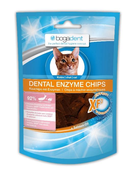 Bogadent Dental Enzyme Chips przysmak dla kota chipsy do higieny jamy ustnej 50g