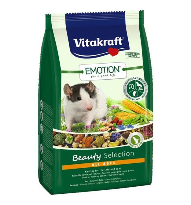 Vitakraft Emotion Pokarm dla szczurów  Beauty Selection All Ages 600g