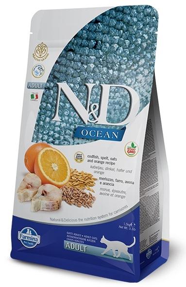 Farmina N&D Ocean Low Grain Cat ryba i pomarańcze 300g