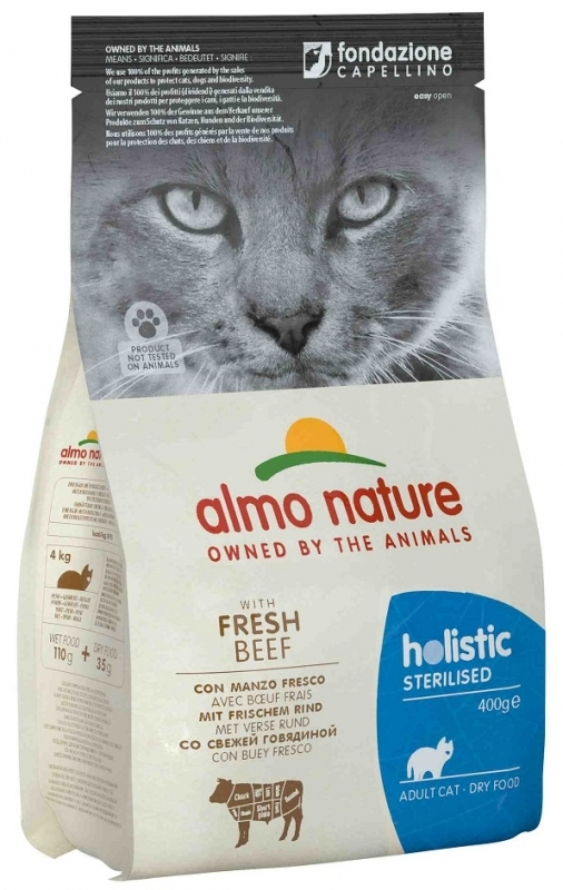 Almo Nature Holistic Cat Adult Sterilised  z wołowiną 2kg