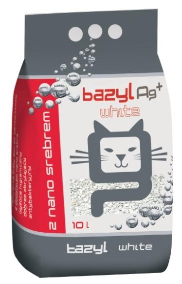 Zdjęcie Bazyl Żwirek Ag+ White Antybakteryjny   dla kota 10l