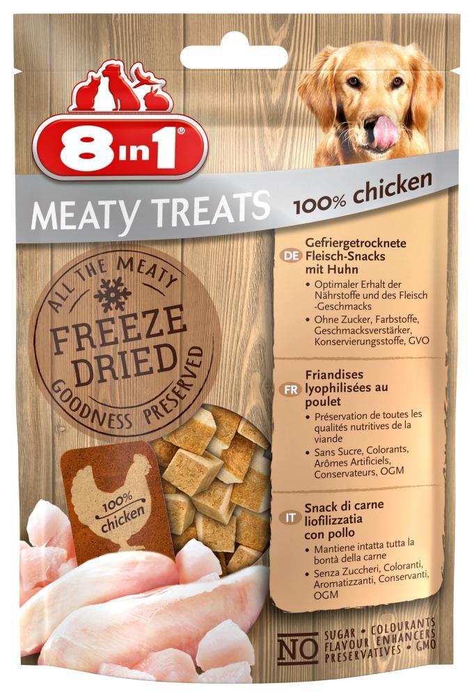 Zdjęcie 8in1 Przysmak dla psa Freeze Dried  100% piersi z kurczaka 50g
