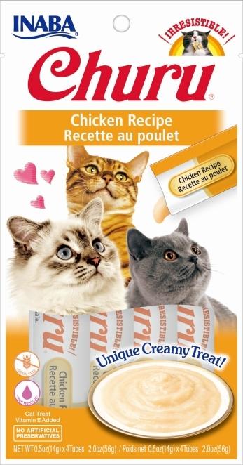 Churu Kremowy przysmak dla kota kurczak 4x14g