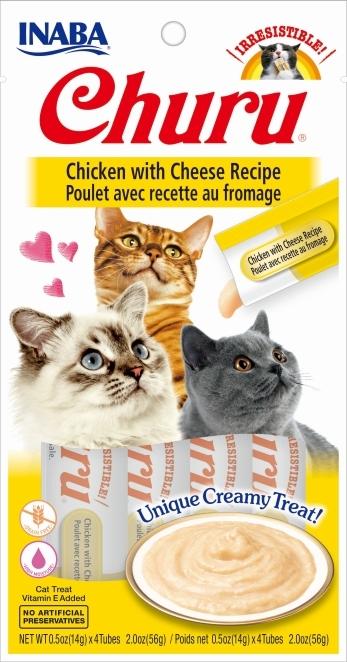 Zdjęcie Churu Kremowy przysmak dla kota  kurczak z serem 4x14g