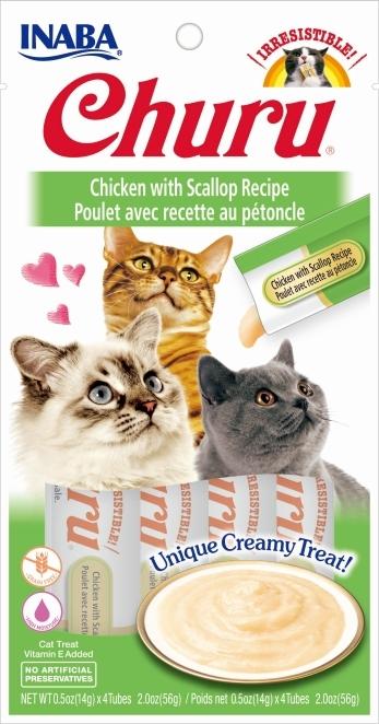 Zdjęcie Churu Kremowy przysmak dla kota  kurczak z przegrzebkiem 4x14g