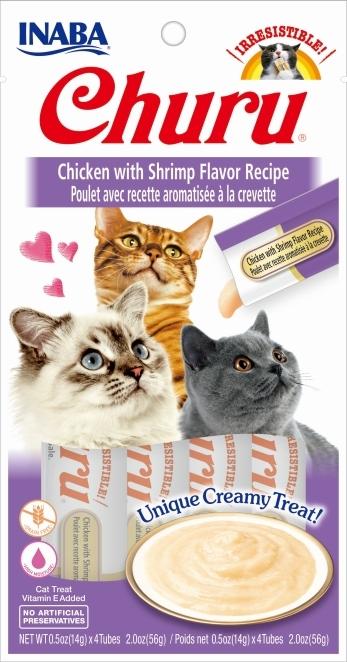 Zdjęcie Churu Kremowy przysmak dla kota  kurczak z krewetką 4x14g