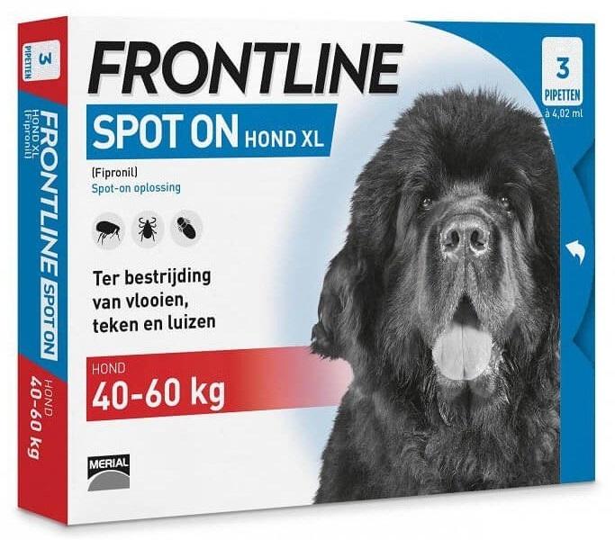 Zdjęcie Frontline Spot On Pies XL 40-60 kg trójpak  dla psów XL 40-60 kg 3 x 4,02 ml