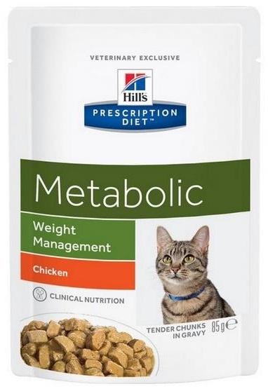 Hill's Vet Feline Metabolic saszetka  kurczak 85g