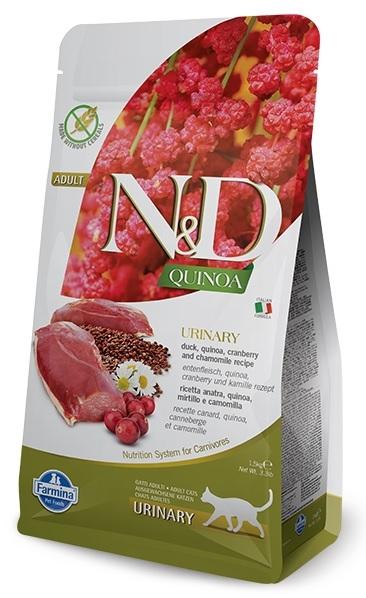 Farmina N&D Grain Free Cat Quinoa Urinary kaczka, żurawina i rumianek 1.5kg