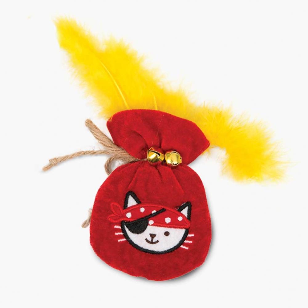 catit Play Pirates zabawka dla kota sakiewka złota z kocimiętką 8 x 4 x 16 cm