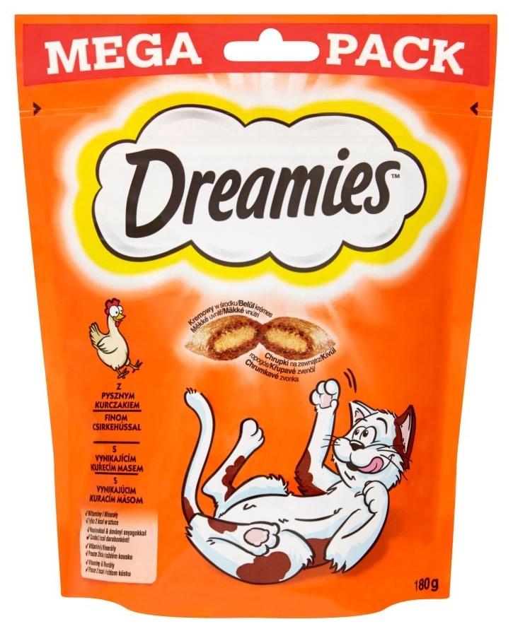 Dreamies Cat Treats Mega Pack przysmaki dla kota z kurczakiem 180g