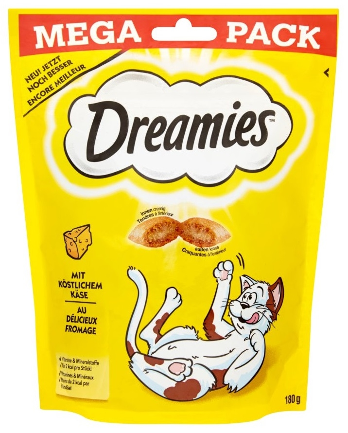 Dreamies Cat Treats Mega Pack przysmaki dla kota z serem 180g