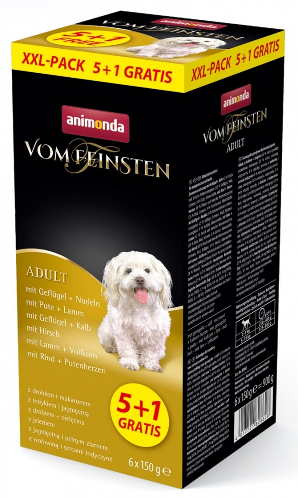 Animonda Vom Feinsten Dog Adult wielopak XXL   5 szt + 1 GRATIS
