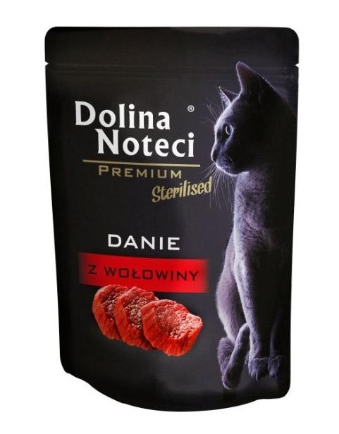 Zdjęcie Dolina Noteci Premium Sterilised saszetka dla kota  danie z wołowiny 85g