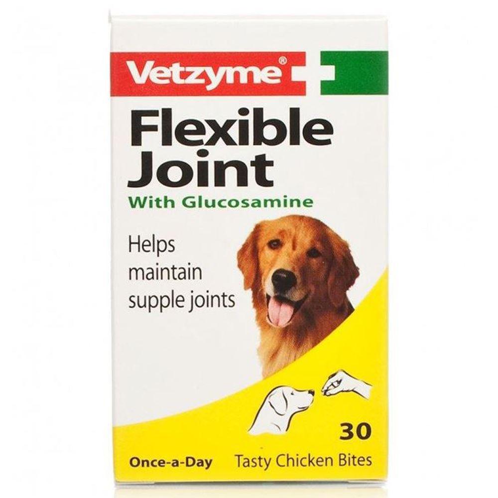 Zdjęcie Vetzyme High Strength Flexible Joint z glukozaminą  tabletki na stawy dla psów  30 tabl.