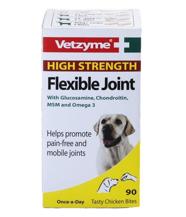 Zdjęcie Vetzyme High Strength Flexible Joint z glukozaminą  tabletki na stawy dla psów  90 tabl.