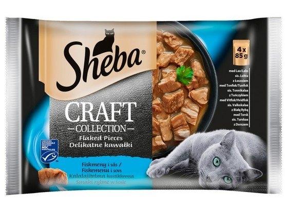 Zdjęcie Sheba Czteropak saszetek Craft Collection  smaki rybne w sosie  4 x 85g