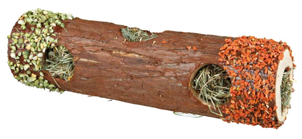Zdjęcie Trixie Pure Nature tunel drewniany duży  z siankiem, marchewką i groszkiem ø 9 x 30 cm