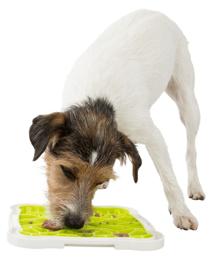 Trixie Taca Lick'n'Snack do przysmaków biało-zielona 20 x 20 cm