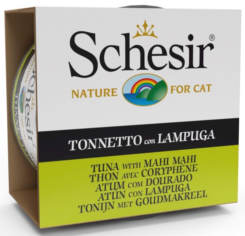 Schesir Cat puszka w galaretce tuńczyk z koryfeną (mahi mahi) 85g