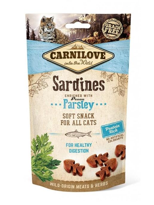 Carnilove Cat Snack Soft przysmak dla kota Sardines + Parsley 50g