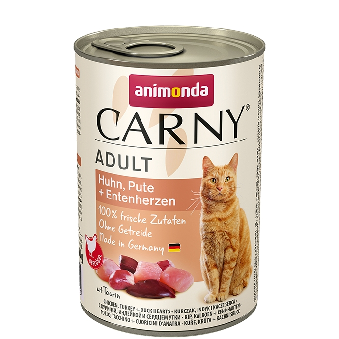 Animonda Carny Adult kurczak, indyk + kacze serca 400g