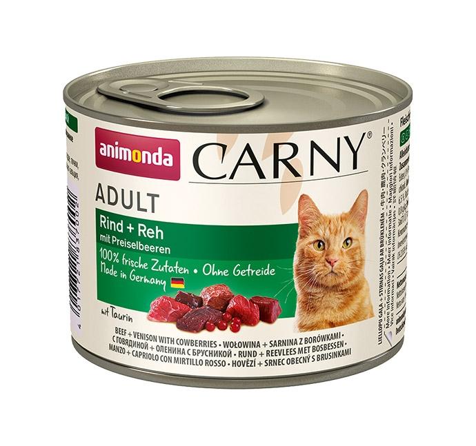 Animonda Carny Adult wołowina + sarna + borówki 200g