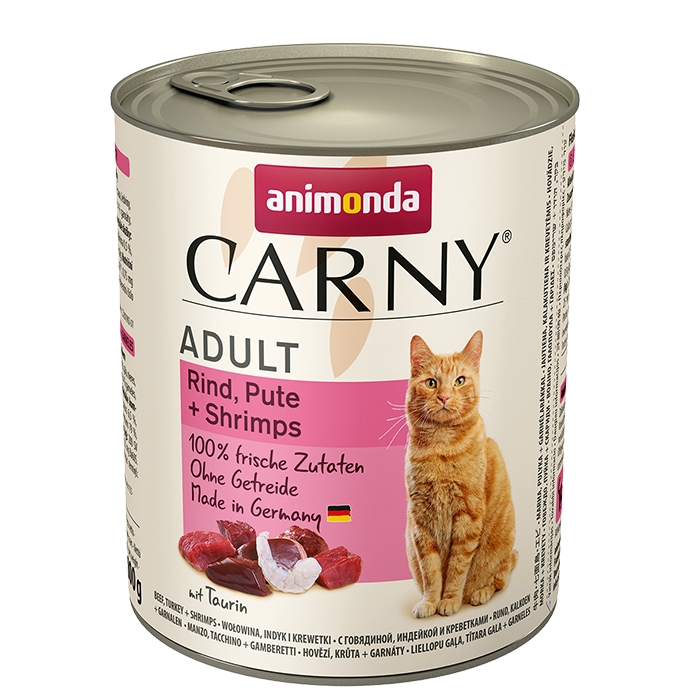 Animonda Carny Adult wołowina, indyk + krewetki 800g