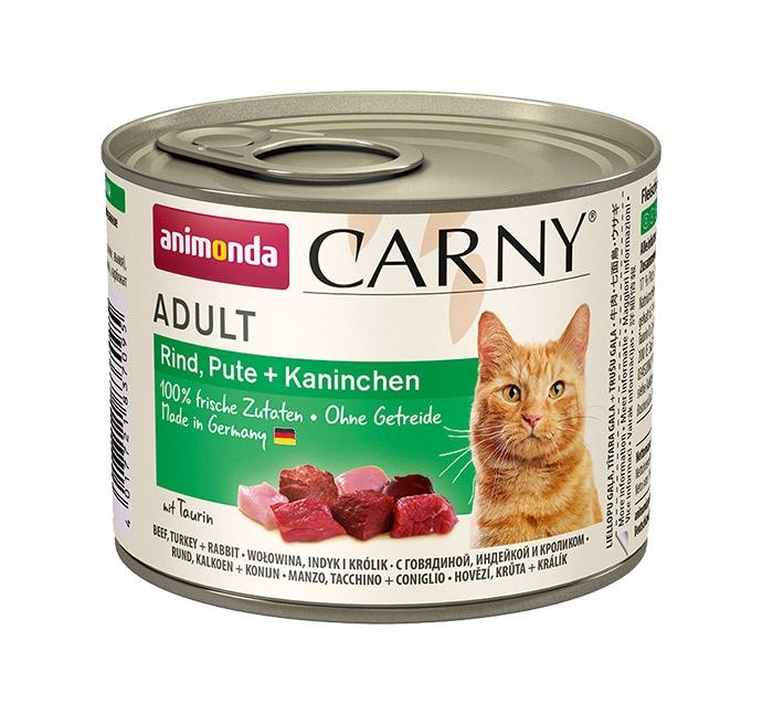 Zdjęcie Animonda Carny Adult  wołowina, indyk + królik 200g