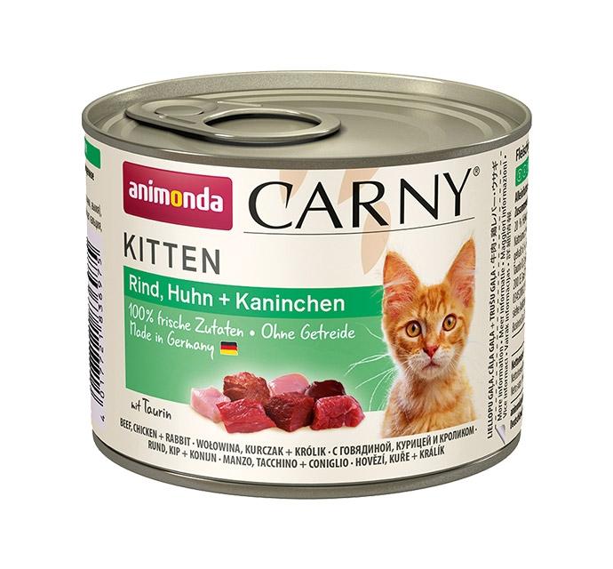 Zdjęcie Animonda Carny Kitten  wołowina, kurczak + królik 200g