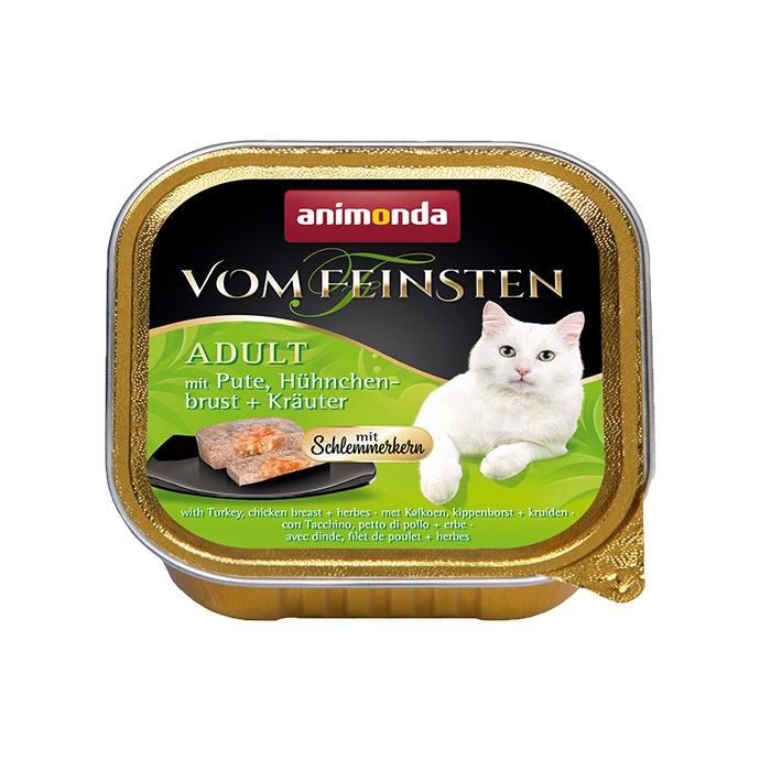 Animonda Vom Feinsten Adult pasztet z galaretką z indykiem, piersią z kurczaka i ziołami 100g