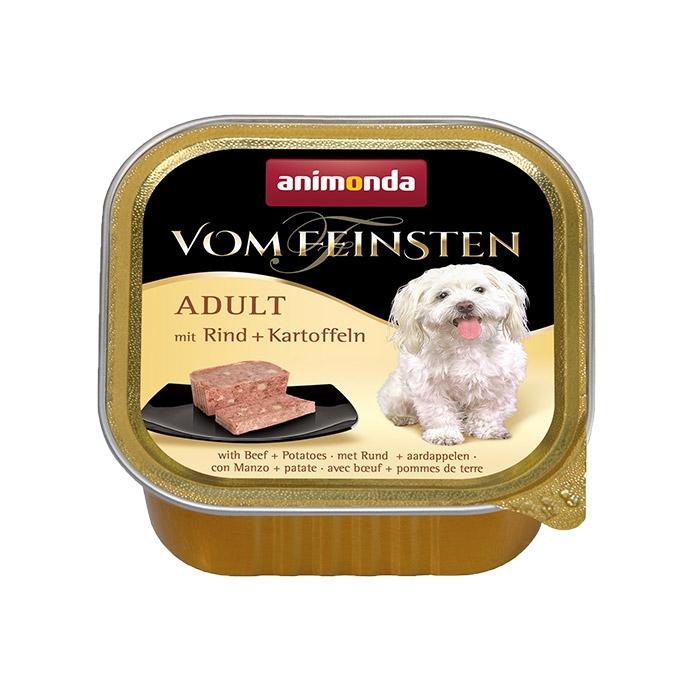 Zdjęcie Animonda Vom Feinsten Dog Adult  z wołowiną i ziemniakami 150g