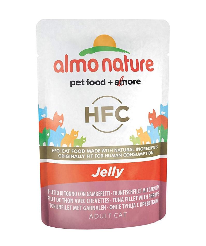 Almo Nature Classic Adult Cat saszetka Jelly filet z tuńczyka i krewetki w galaretce 55g