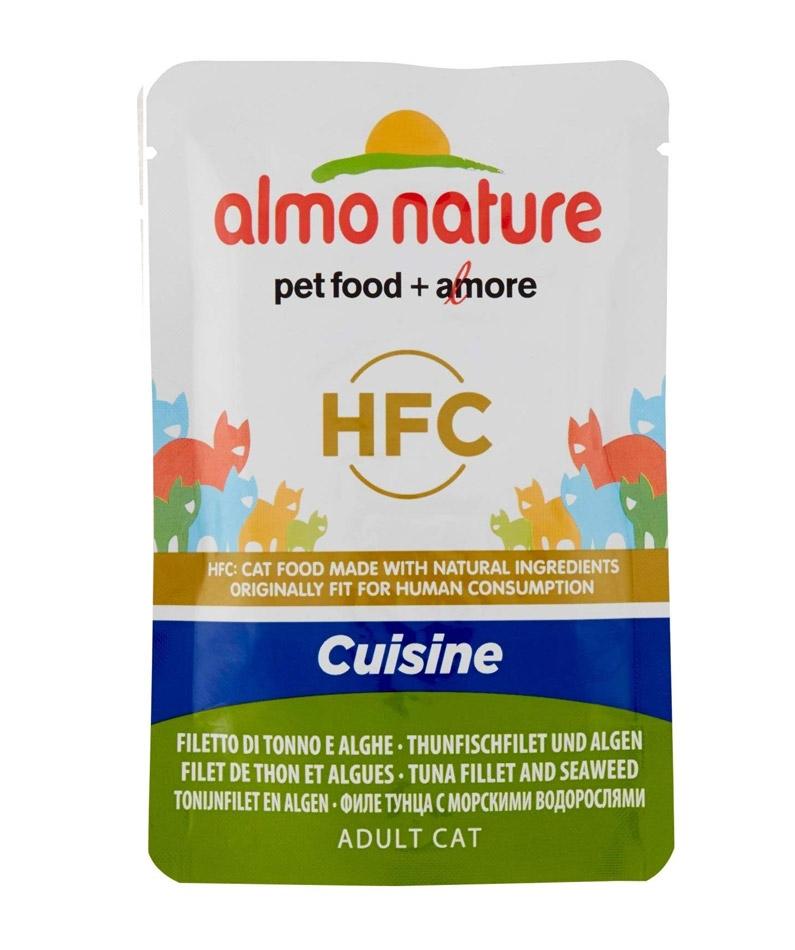 Almo Nature Classic Adult Cat saszetka Cuisine filet z tuńczyka z wodorostami 55g