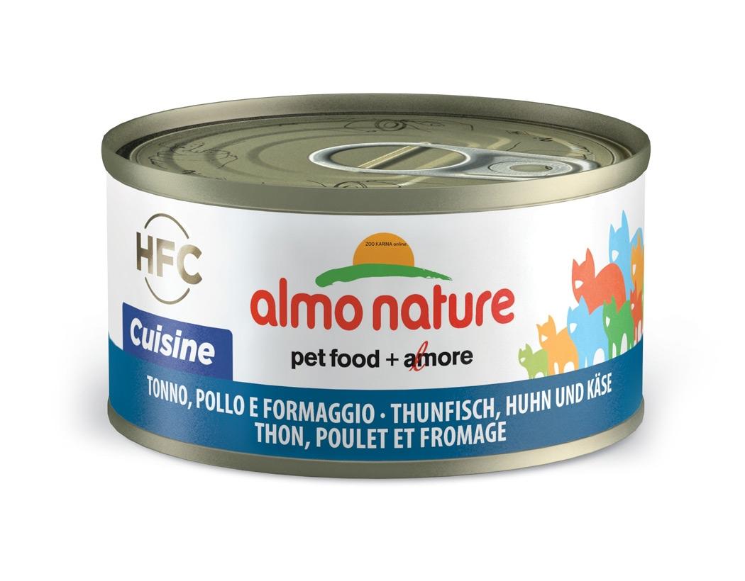 Zdjęcie Almo Nature Puszka HFC Cuisine w sosie tuńczyk z kurczakiem i serem 70g