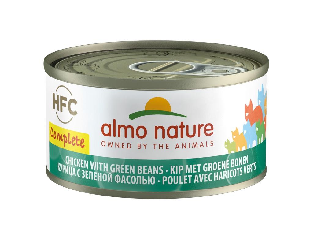 Zdjęcie Almo Nature Puszka HFC Complete w sosie kurczak z zielonym groszkiem 70g