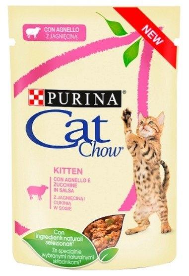 Zdjęcie Purina Cat Chow Kitten saszetka dla kociąt z indykiem i cukinią w galaretce 85g