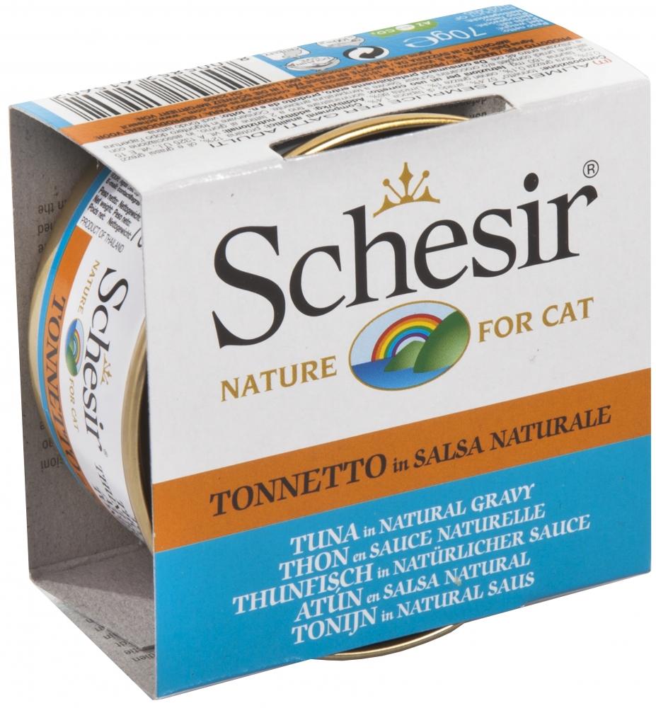 Schesir Cat puszka w sosie własnym tuńczyk 70g