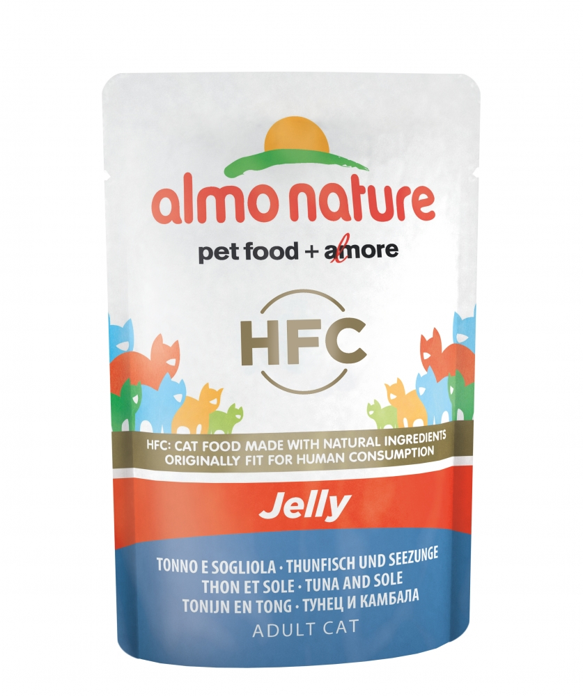 Almo Nature Classic Adult Cat saszetka Jelly tuńczyk z rybą solą w galaretce 55g