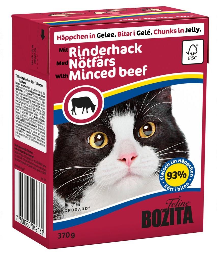 Zdjęcie Bozita Puszka kartonik dla kota  Rinderhack (wołowina), galaretka 370g