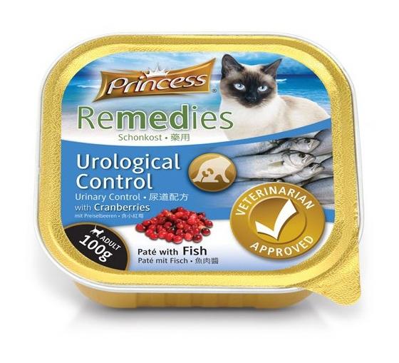 Princess Cat Remedies Urological Control tacka dla kota pasztet z ryby z żurawiną 100g